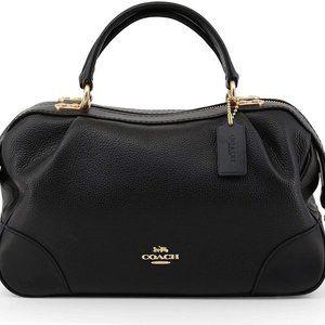 COACH Polished Pebble Leather Lane Satchel Bag